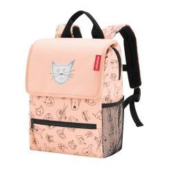 reisenthel Rucksack Kinder 5 Liter backpack cats and dogs -  Rosa Polyester mit Reflektor 21x28x12 cm