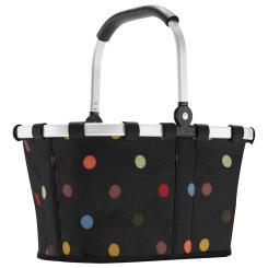Reisenthel carrybag XS dots Einkaufskorb Picknickkorb Henkelkorb 5 Liter schwarz mit Punkten - Größe S