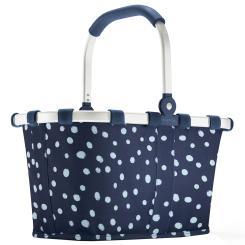 Reisenthel carrybag XS dots Einkaufskorb Picknickkorb Henkelkorb 5 Liter spots navy - Größe S