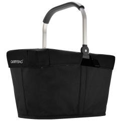 Reisenthel carrybag schwarz Henkelkorb Einkaufskorb + Cover schwarz