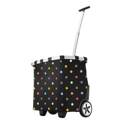 reisenthel Einkaufstrolley carrycruiser dots 40L Schwarz bunte Punkte