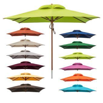 anndora Sonnenschirm Gartenschirm Marktschirm 3x3 m eckig - mit Winddach Farbauswahl
