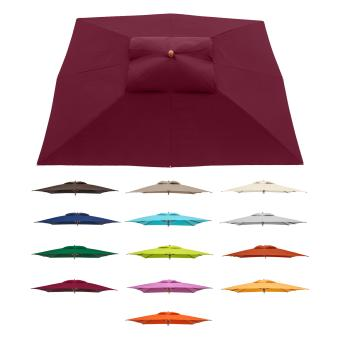 anndora Sonnenschirm Marktschirm 3 x 4 m eckig - wasserabweisend UV-Schutz Farbauswahl