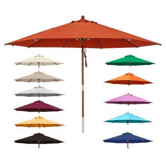 anndora Sonnenschirm Gartenschirm Marktschirm 3,5 m rund Winddach UV-Schutz - Farbwahl