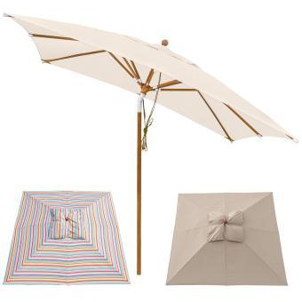 Sonnenschirm Knicker 3 x 3 m eckig Sommer Edition - Farbwahl