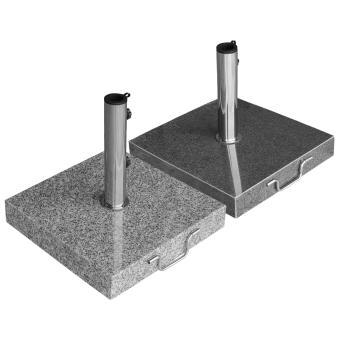 Sonnenschirmständer Granit 40kg rollbar, Adapter 48, 38mm Stamm
