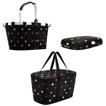 Reisenthel coolerbag + carrybag + Cover - dots bunte Punkte Einkaufstkorb