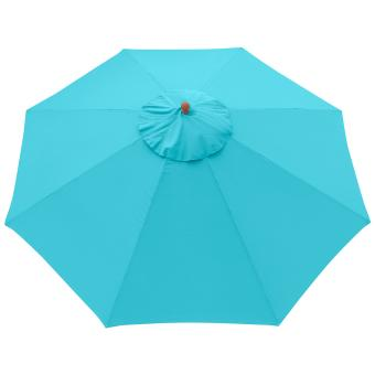 anndora sonnenschirm gastronomie 4 m rund mit winddach himmelblau himmelblau. Black Bedroom Furniture Sets. Home Design Ideas