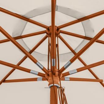 anndora sonnenschirm 3 m rund gartenschirm mit winddach gestreift 7 farben 3m. Black Bedroom Furniture Sets. Home Design Ideas