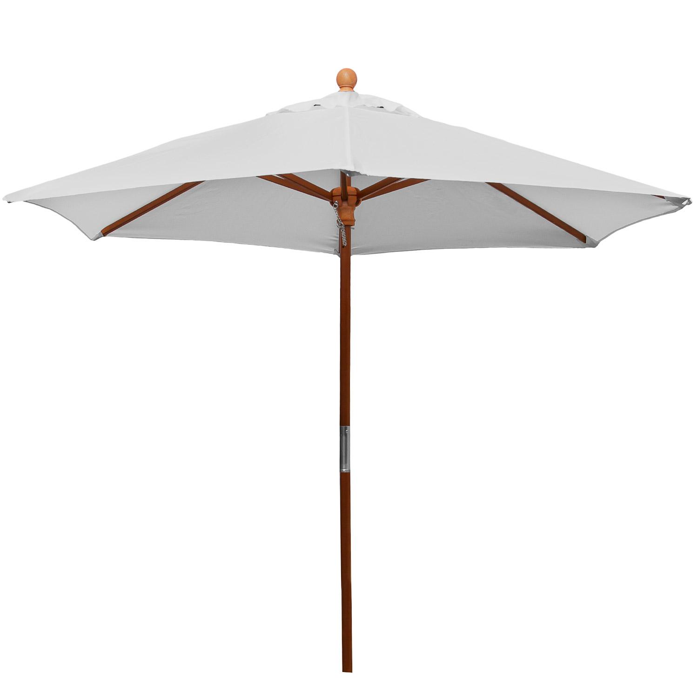 anndora sonnenschirm balkonschirm 2 1 m rund mit winddach uv schutz silber grau. Black Bedroom Furniture Sets. Home Design Ideas