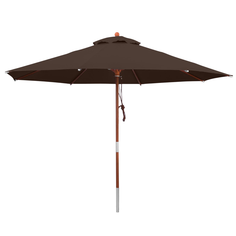 anndora sonnenschirm braun 3 m rund gartenschirm wasserabweisend winddach braun. Black Bedroom Furniture Sets. Home Design Ideas