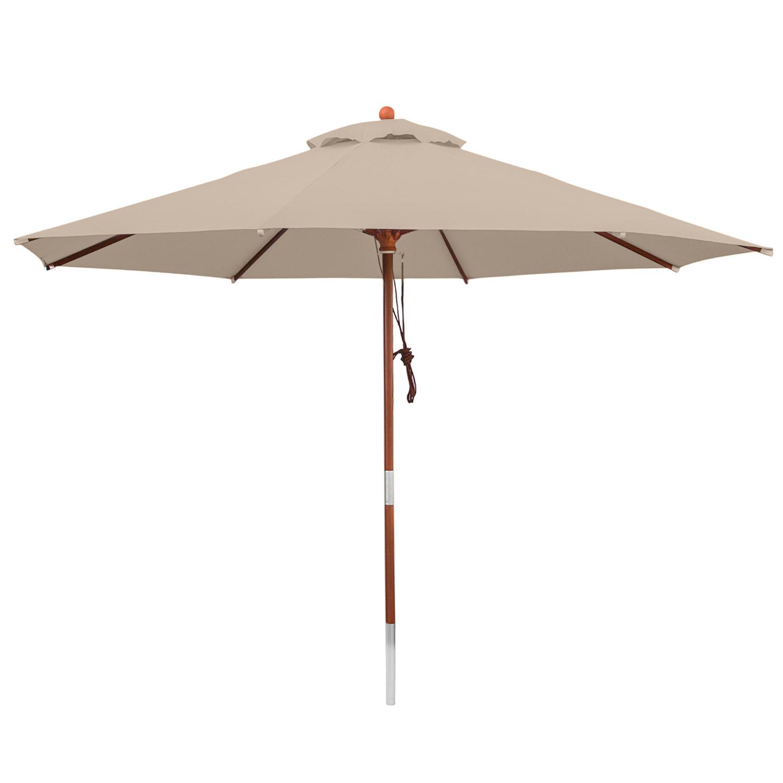 Anndora sonnenschirm gartenschirm 3 5 m rund for Stahlwandbecken rund 5 m