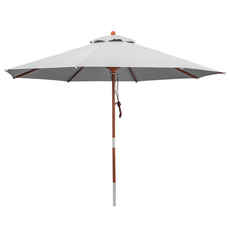 anndora sonnenschirm gartenschirm 3m rund wasserabweisend windfang silber grau. Black Bedroom Furniture Sets. Home Design Ideas