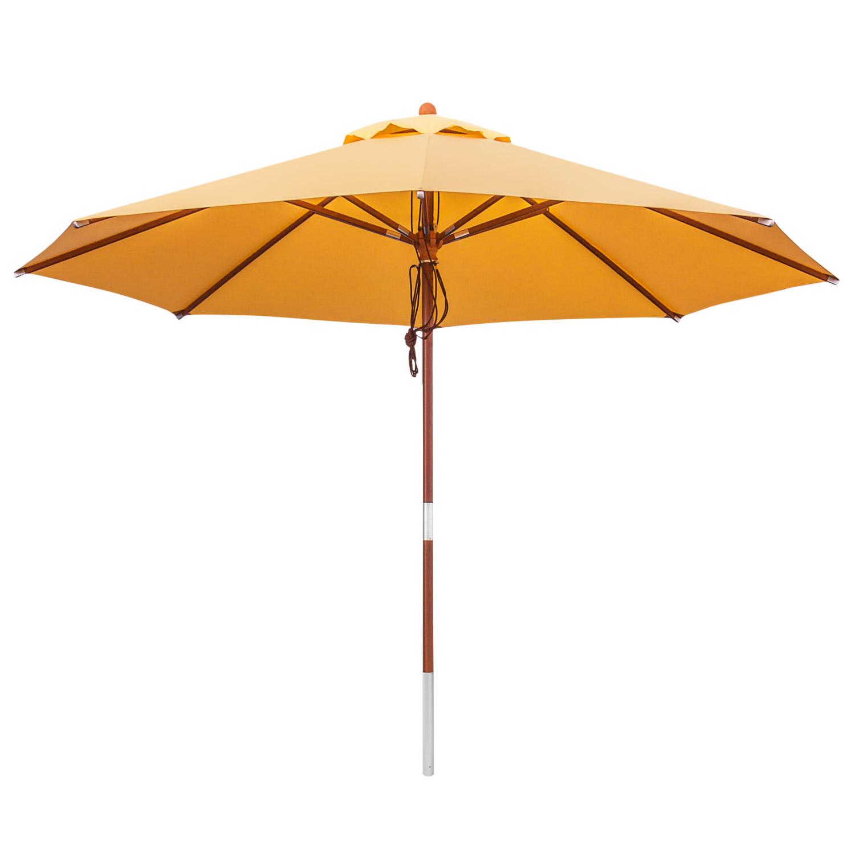 anndora sonnenschirm gartenschirm 3 5 m rund winddach sahara gelb sahara gelb. Black Bedroom Furniture Sets. Home Design Ideas