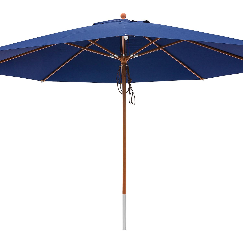 anndora sonnenschirm marktschirm gastronomie 4 m rund mit winddach navy blau. Black Bedroom Furniture Sets. Home Design Ideas