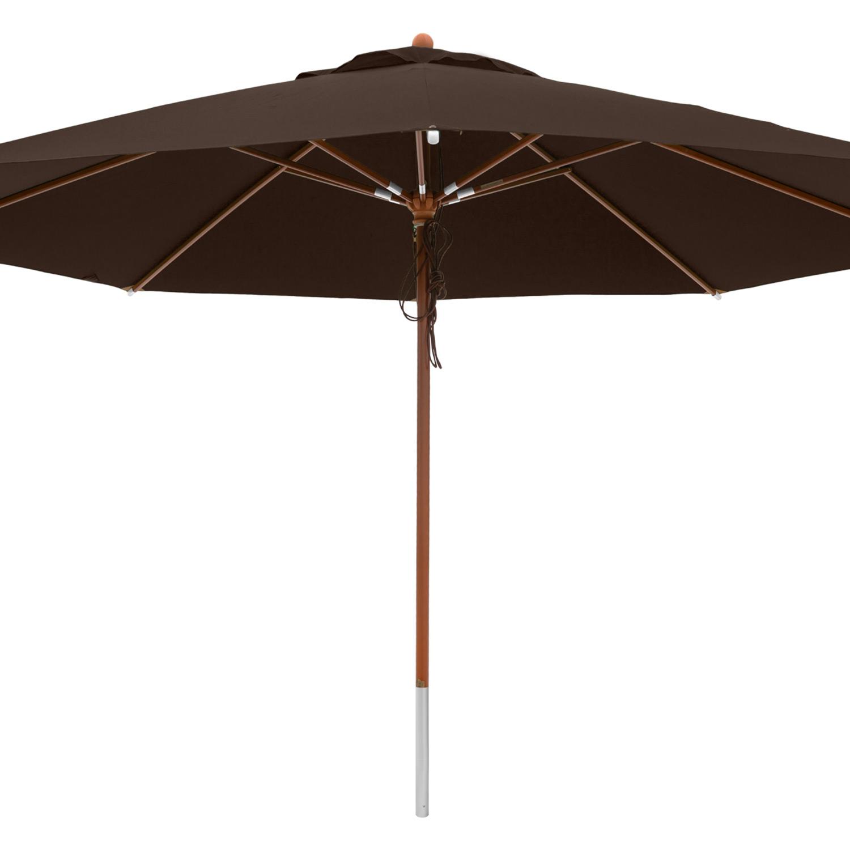 anndora sonnenschirm gastronomie 4 m rund winddach wasserabweisend braun. Black Bedroom Furniture Sets. Home Design Ideas