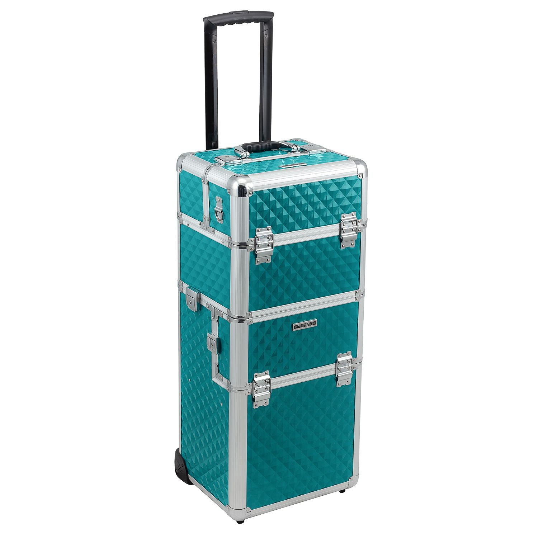trolley 2 rad pilotenkoffer t rkis alu rahmen koffer beauty case teleskop. Black Bedroom Furniture Sets. Home Design Ideas