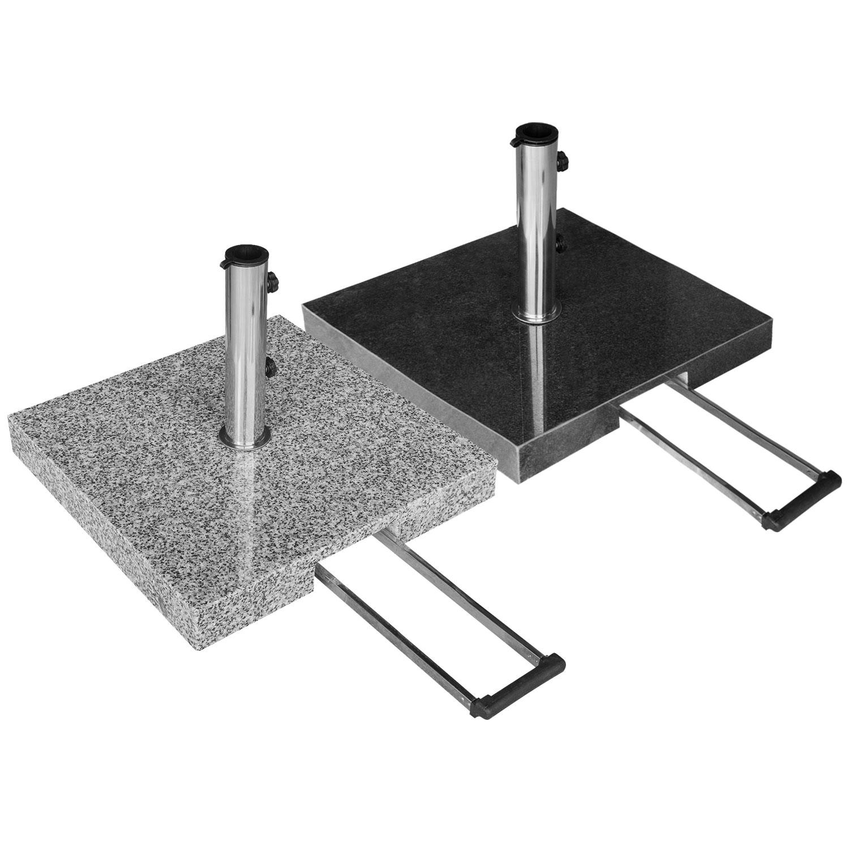 sonnenschirmst nder granit 55kg rollbar mit teleskopgriff farbwahl zum online shop. Black Bedroom Furniture Sets. Home Design Ideas