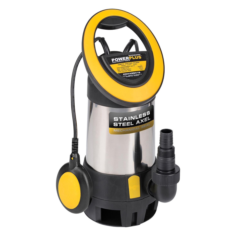 powerplus tauchpumpe kellerpumpe klarwasser pumpe aus edelstahl zur auswahl haus. Black Bedroom Furniture Sets. Home Design Ideas
