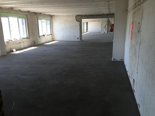 Fußbodenheizung, Büro, Baustelle