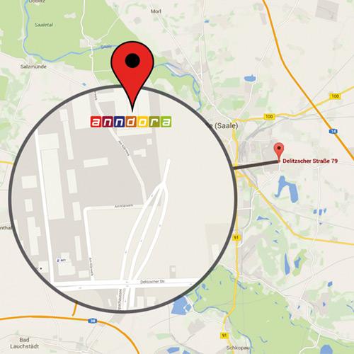 anndora, Firma, Selbstabholung, Delitzscher Str. 79b, Halle (Saale), Firmensitz